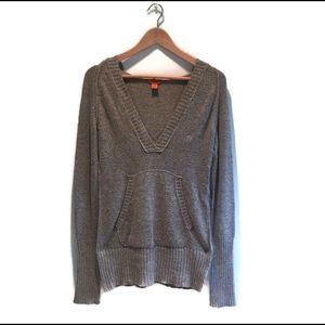Akualani hooded Cotton wool sweater in grey